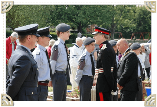 HM Lord Lieutenant with Cadets