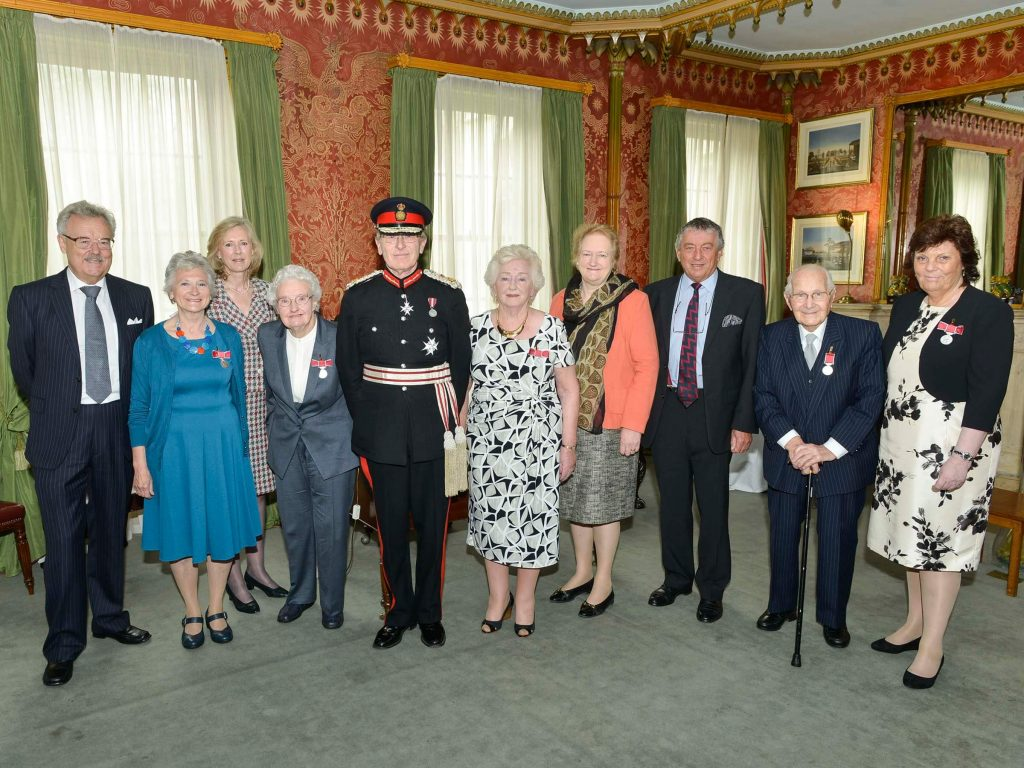 The Lord Lieutenant with recipients and Deputy Lieutenants